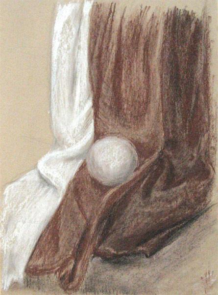 Сепия, пастель