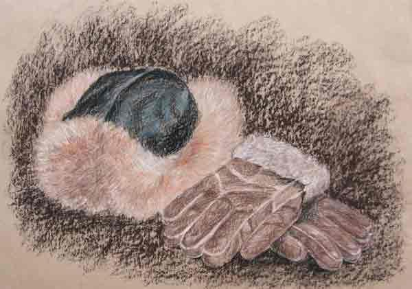 Уголь, сангина, пастель