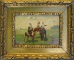 Christian Sell the Elder. Mounted Patrol II. Oil/wood