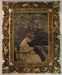Западноевропейский художник XIX в. В саду. Дерево, масло