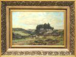 R.G. Somerset. Mountain Farm. Oil on canvas